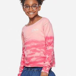 NWT Justice Ombré Open Back Sweatshirt
